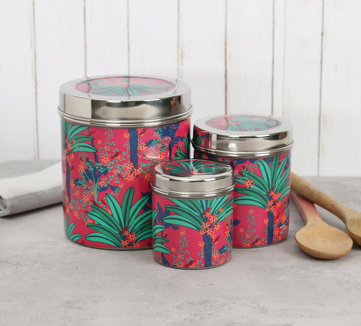 Royal Palms Steel Container (Set of 3)