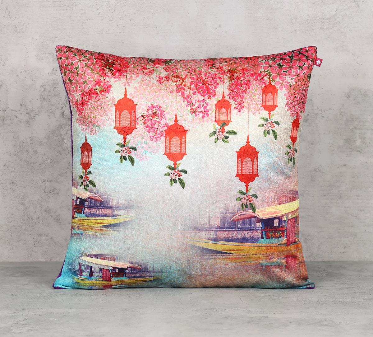Scarlet Shadow Blend Velvet Cushion Cover