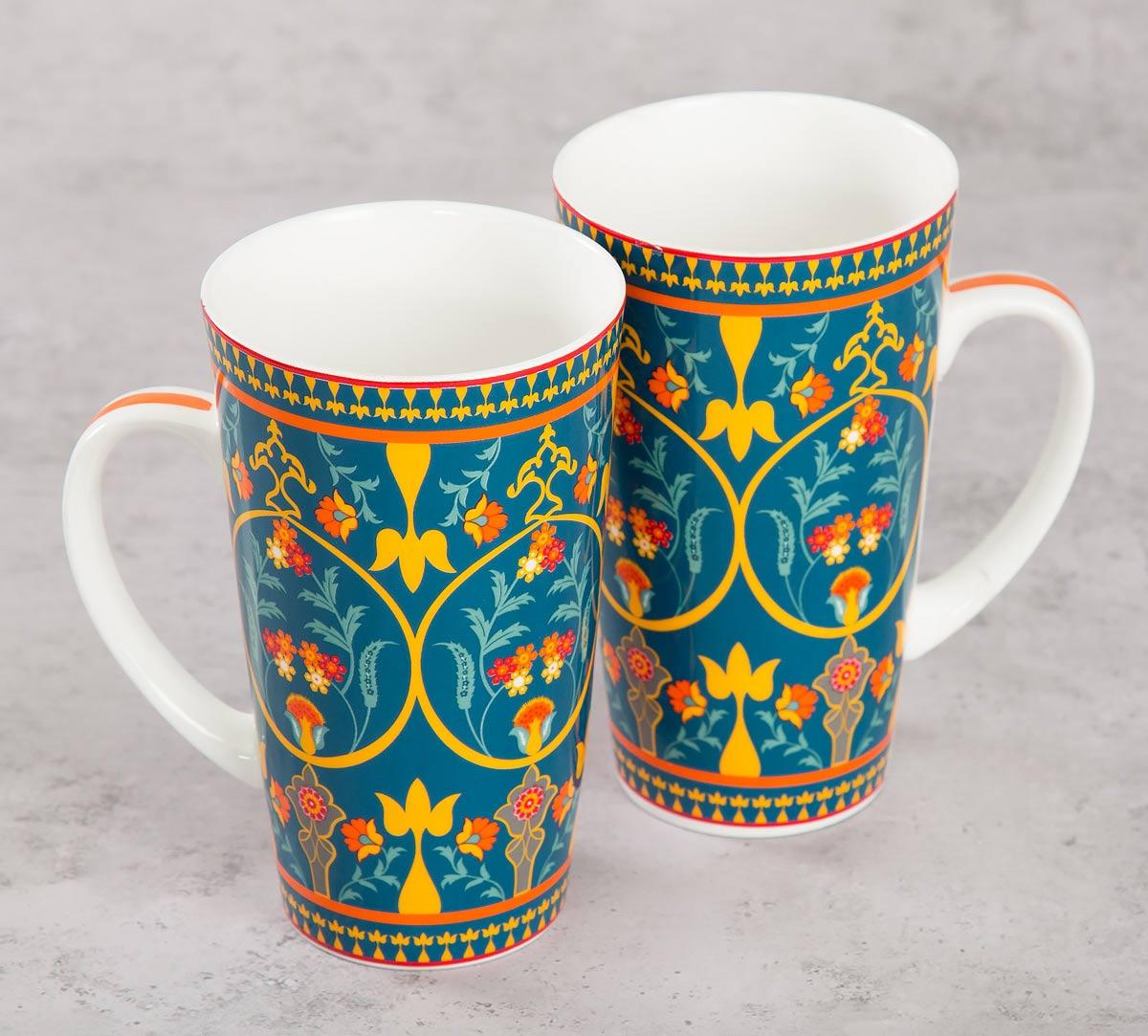 Swirling Safari Conical Mug (Set of 2)