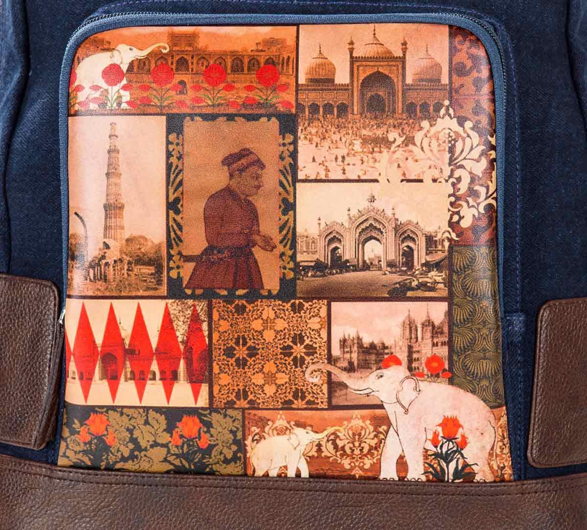 The Mughal Era Denim Backpack