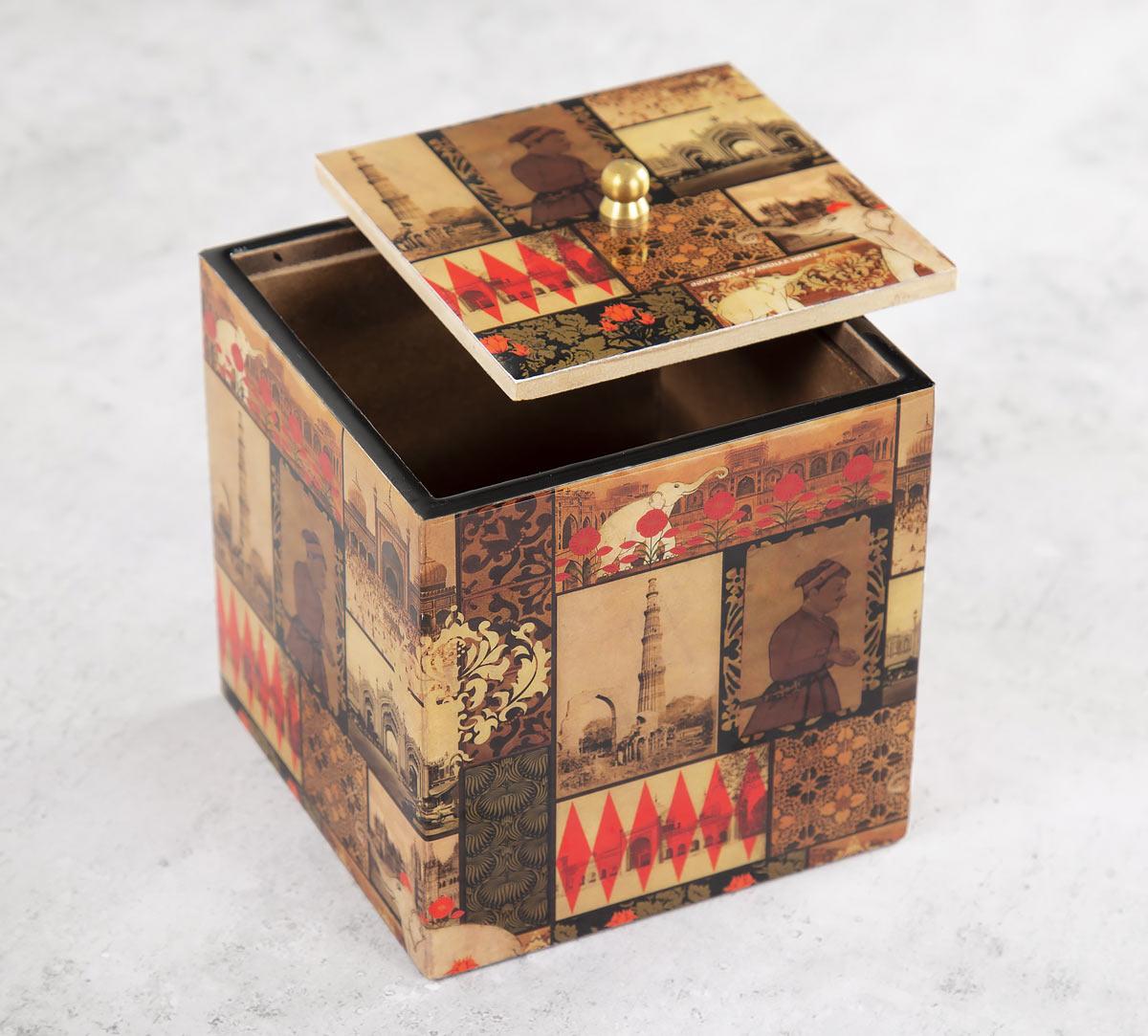 The Mughal Era Square Storage Box