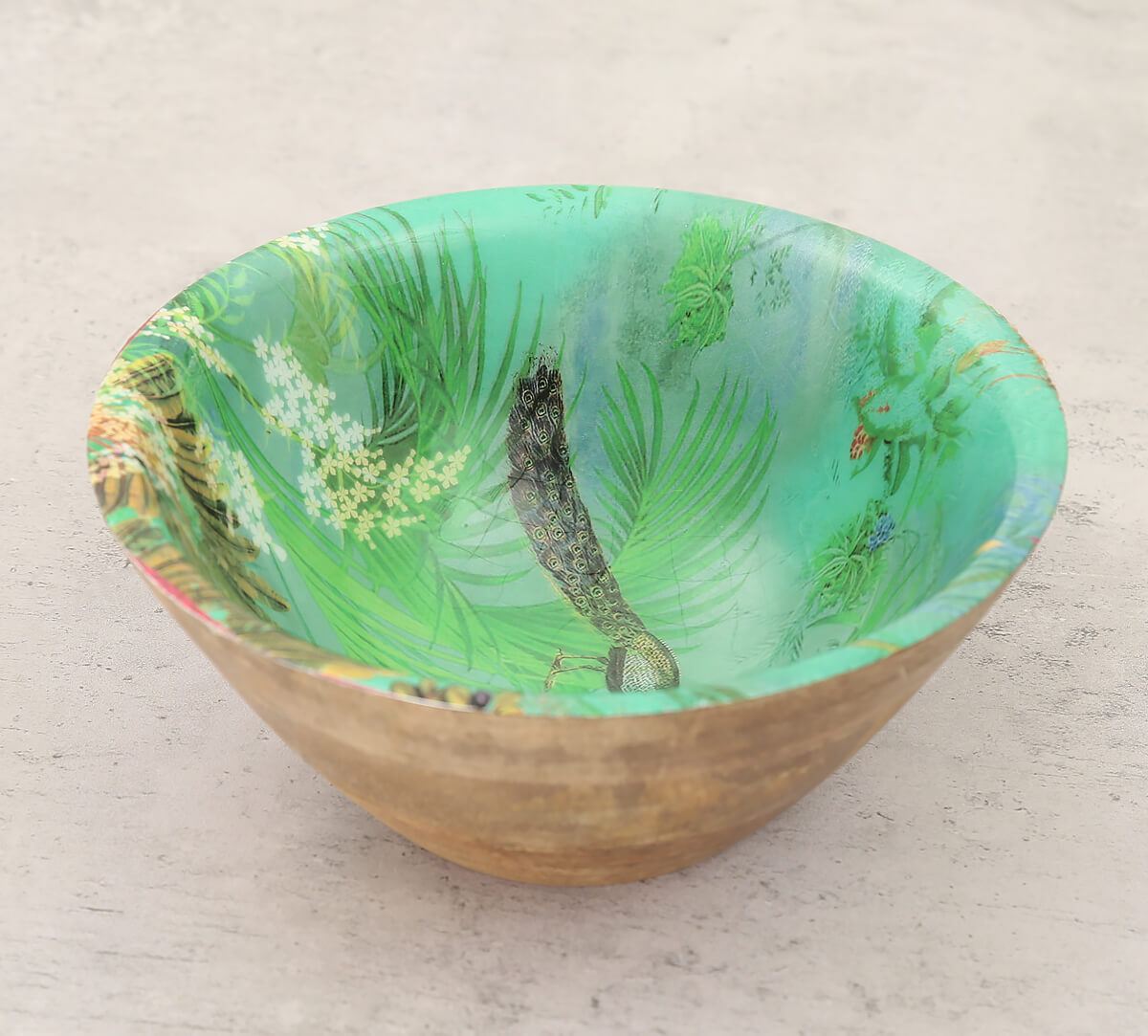 The Peacock Throne Wooden Bowl