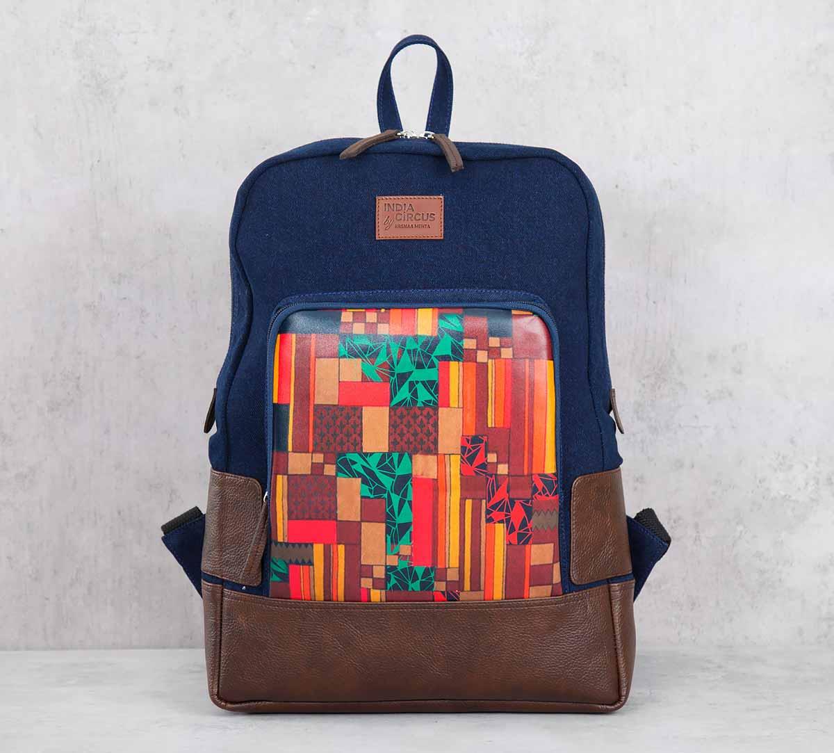 Tiled Extravaganza Denim Backpack