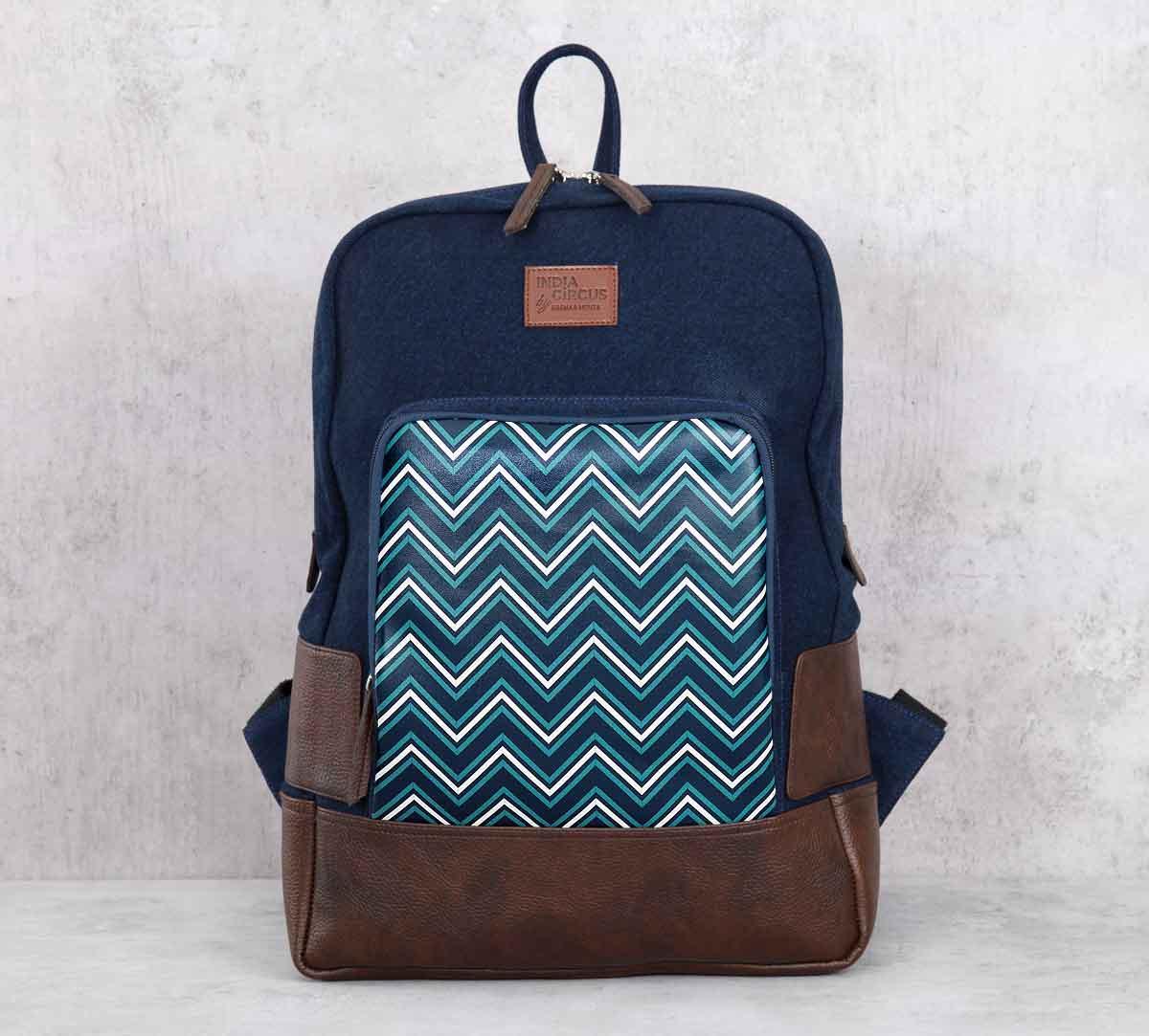 Trichrome Chevron Denim Backpack