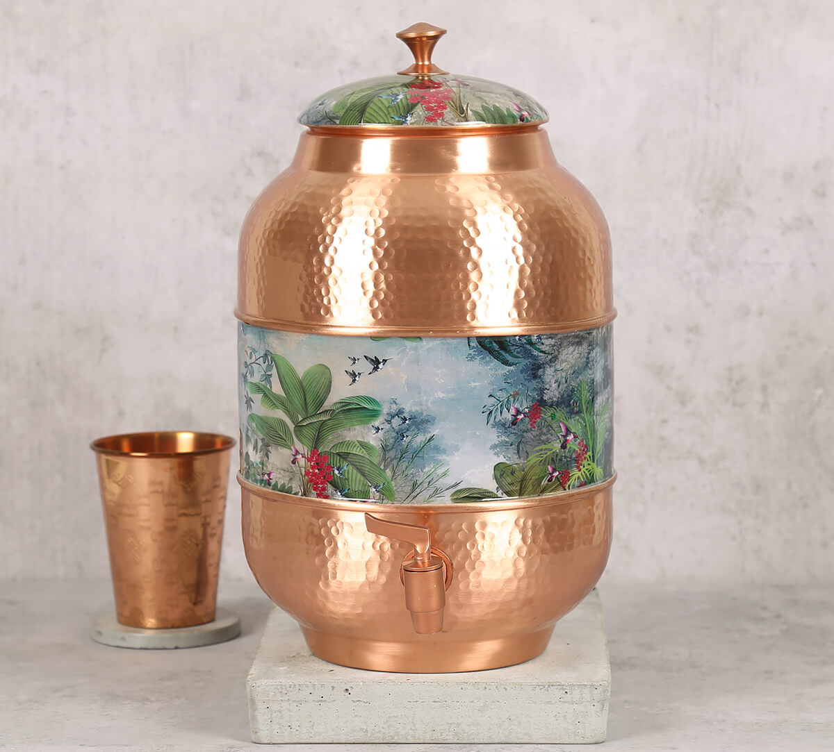 Tropical View Copper Water Dispenser