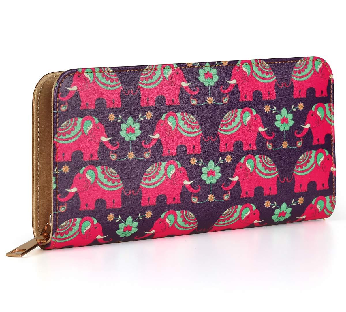 Violet Mastodon's Jamboree Ladies Zipper Wallet