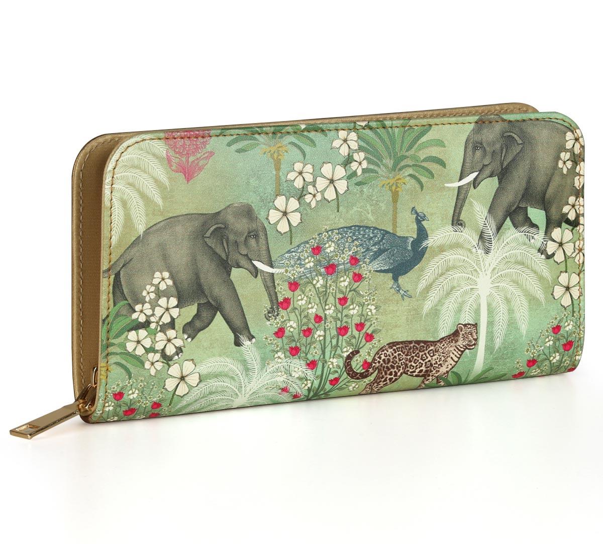 Wildlife Safari Ladies Zipper Wallet