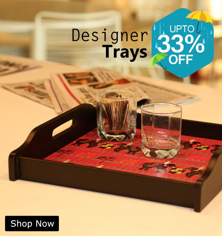 Shop Designer Wooden Trays Online