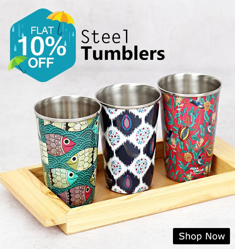 Buy Colourful Etiquette Steel Tumblers | Glassware Online