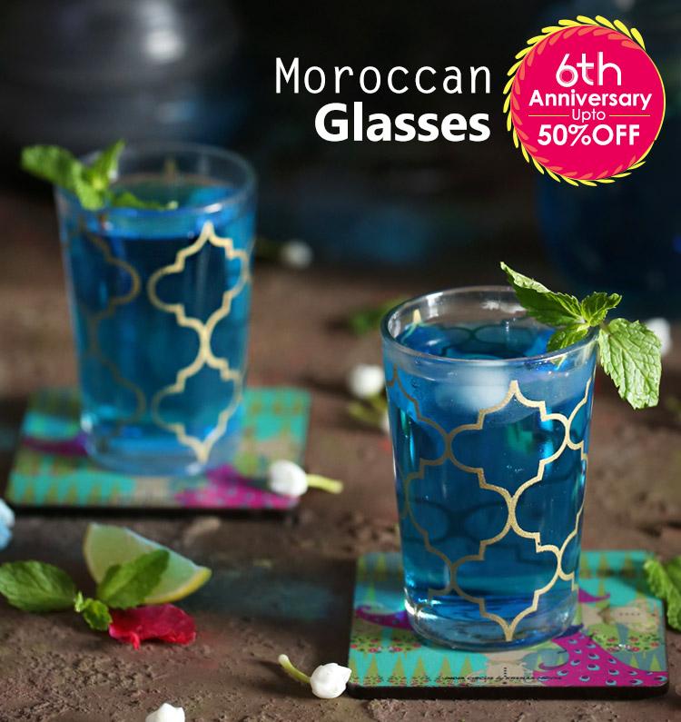 Buy Moroccan Tea Glasses | Glass Tumblers Online