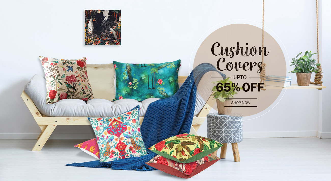 Cushion Covers Online at Best Prices